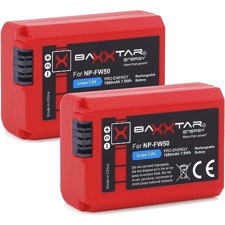 2x Baxxtar Pro Ersatz Für Akku Sony Np Fw50 Mit Kamera