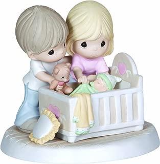 Precious Moments, We're Glad You Came Into Our Lives, Bisque Porcelain Figurine, Family, 132002
