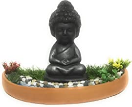 Baby Buddha (Natural Black) Meditating Besides a Water Stream
