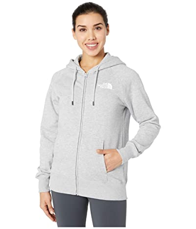 The North Face Half Dome Full-Zip Hoodie (TNF Light Grey Heather) Women