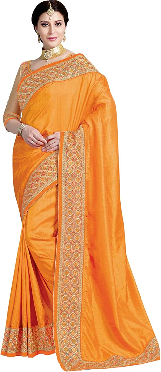Indian Ethnicwear Wedding Crepe Silk Yellow Coloured Fancy Saree
