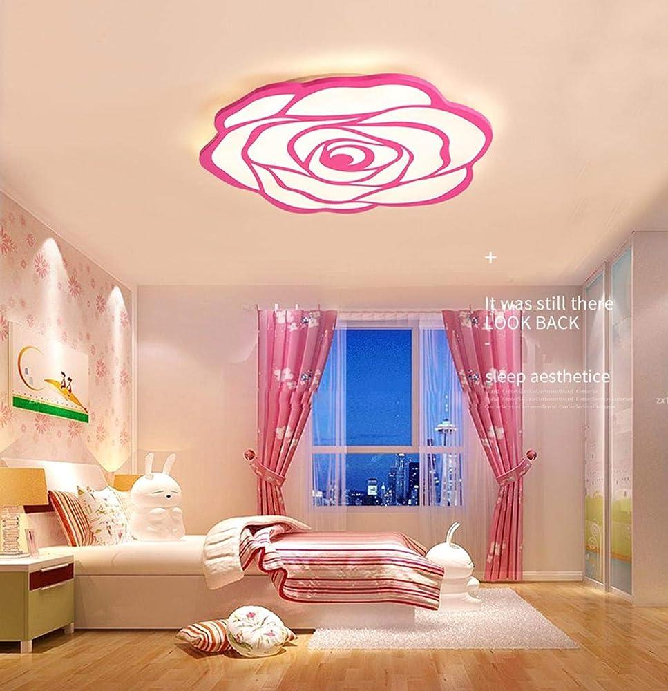 Kuandar chandelier,lampadario a soffitto plafoniera led,a forma di rosa RYYABC301