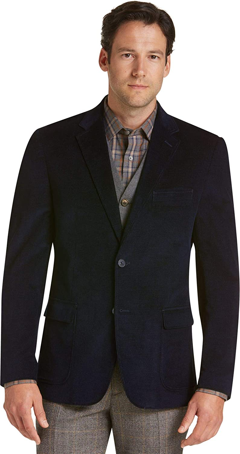 Jos. A. Bank Tailored Fit Corduroy Sport Coat, Navy Blue
