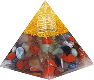 mookaitedecor Healing Crystal 7 Chakra Pyramid Energy Points Meditation Home Decor