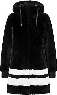EM-EL Bogner Sport Gala1 Merino Shearling Rev. Mid-Length Coat with Intarsia Details
