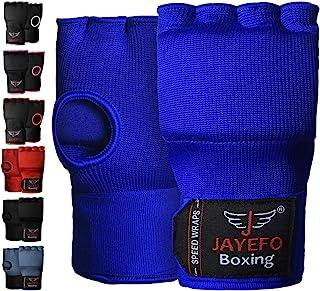 Jayefo Sports Kickboxing Speed Wraps Fast Hand Wraps for Boxing Gloves Inner Insert Fingerless Padded Knuckle Training Kra...