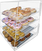 Marketing Holders Retail Pastry Bagels Cupcakes Muffins Bin Cabinet With 4 Trays Top Opening Display Cabinet Bread Bin Organizer