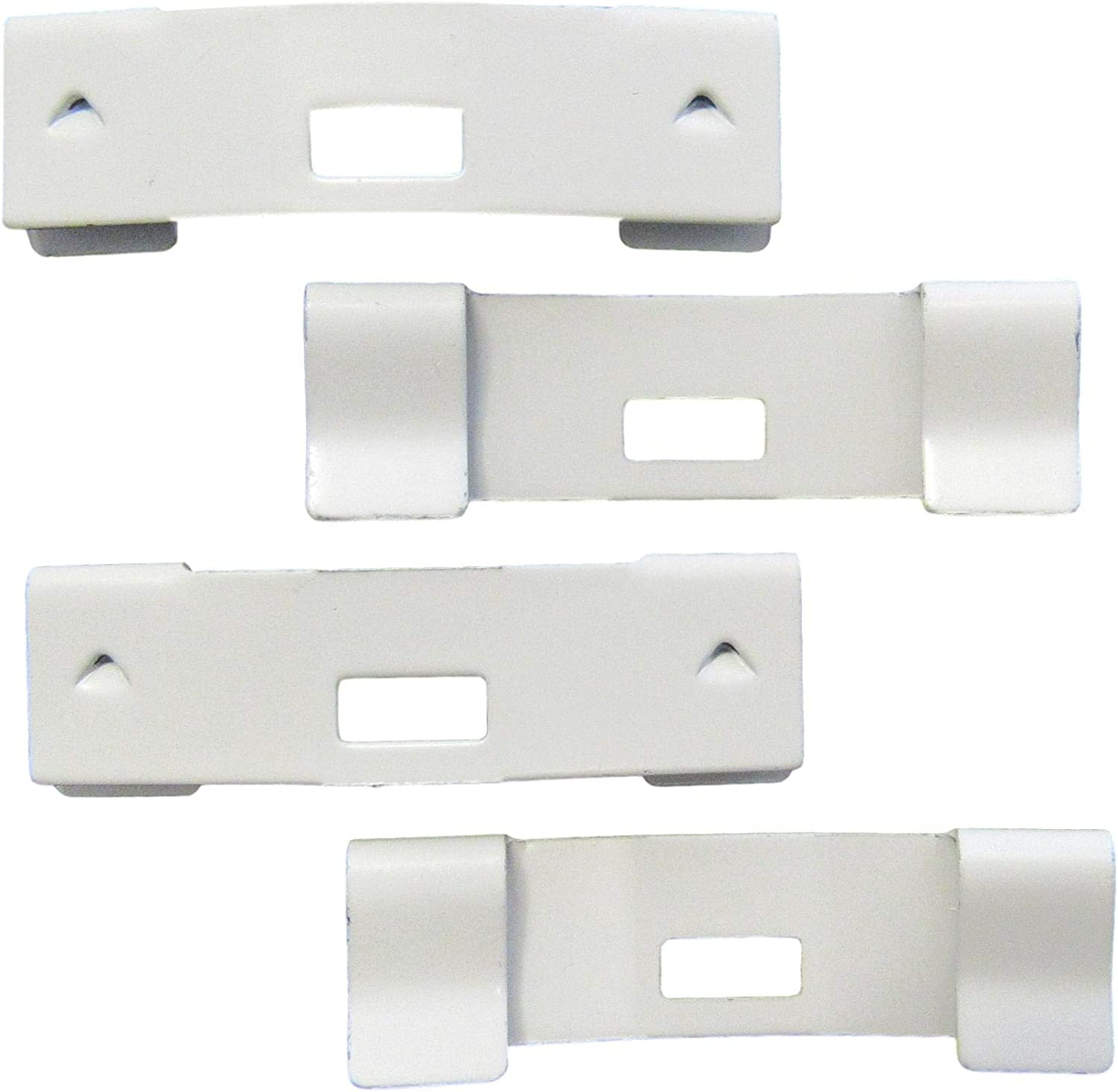 100 Pack Vertical Blind Finally Gorgeous popular brand Vane Saver Repair CURVED Clips White ~