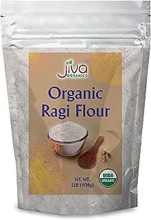 Jiva Organic Ragi Flour 2 Pound Bag (32 ounce) - Finger Millet Flour