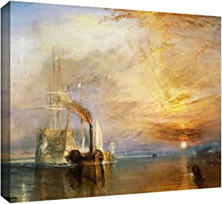 ArtWall 'The Fighting Temeraire' Gallery-Wrapped Canvas Art by William Turner, 18 by 24-Inch