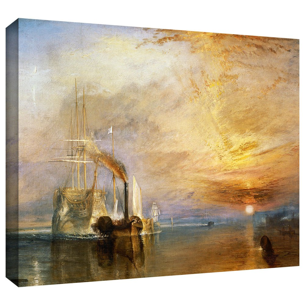 ArtWall The Fighting Temeraire Gallery-Wrapped Canvas Art by William Turner 24 by 32-Inch