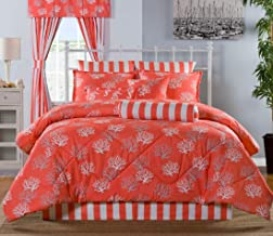 product image for Victor Mill Sanibel King Throw Bedspread 120W x 120L with 3 Shams and neckroll Pillow