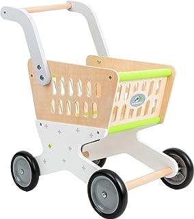 """small foot 11161 Shoppingvagn """"Trend"""" av trä, tillbehör för köpmansbutik och rollspel, från 3 år"""