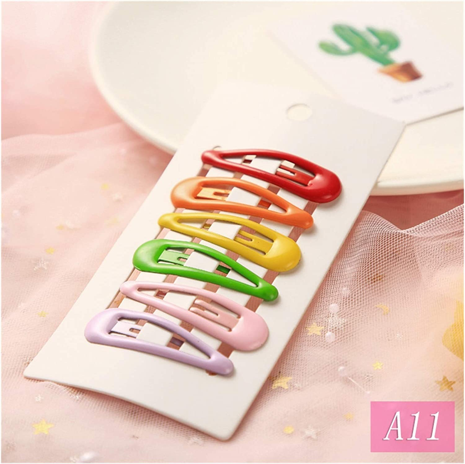 JJSNN Hair Pin 6pcs Accessories Clips Don't miss the campaign snap Colo Metal Cheap sale