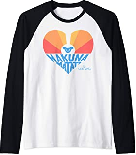 The Lion King Sunrise Heart Hakuna Matata Raglan Baseball Tee