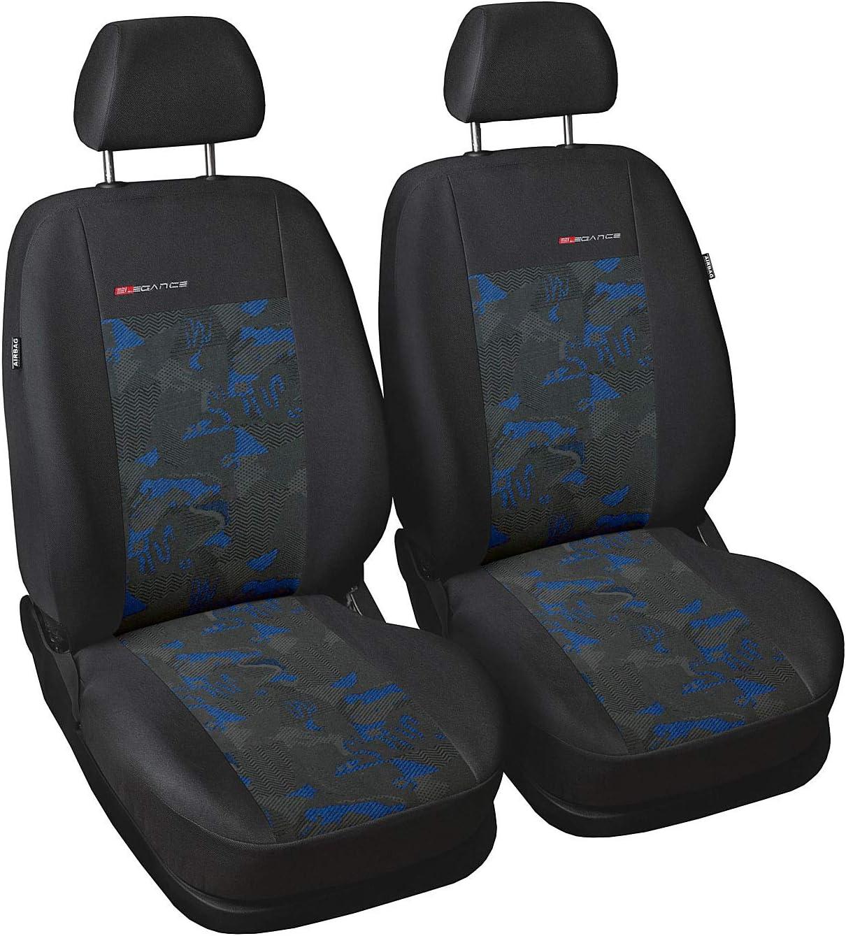 Universal Autositzbezüge Schwarz für Kia Carens II Vorne 1+1 Schonbezüge Auto