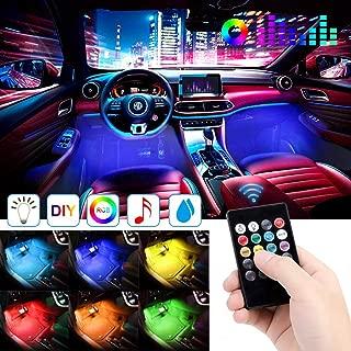 Car LED Strip Light, EJ's SUPER CAR 4pcs 48 LED DC 12V Multicolor Music Car Interior Lights LED Under Dash Lighting Atmosphere Neon Lights Kit with Sound Active Function and Wireless Remote Control…