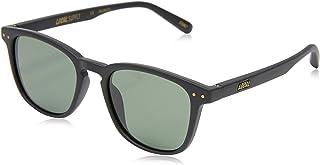 Local Supply Men's CITY Polarized Sunglasses - Dark Green Tint Lens, Matte Black Frames