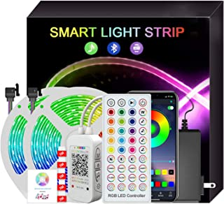 10M 300 LEDs Strip Lights, infinitoo RGB Color Changing LED Lights for Bedroom with Smart App Control, Remote Control, Mus...
