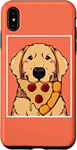 iPhone XS Max Golden Retriever Dog Eating Pizza Labrador Mom Dad Fast Food Case