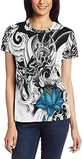 XiangHeFu T Shirt voor Vrouwen Meisjes Draak Mysterieuze Aangepaste Korte mouw