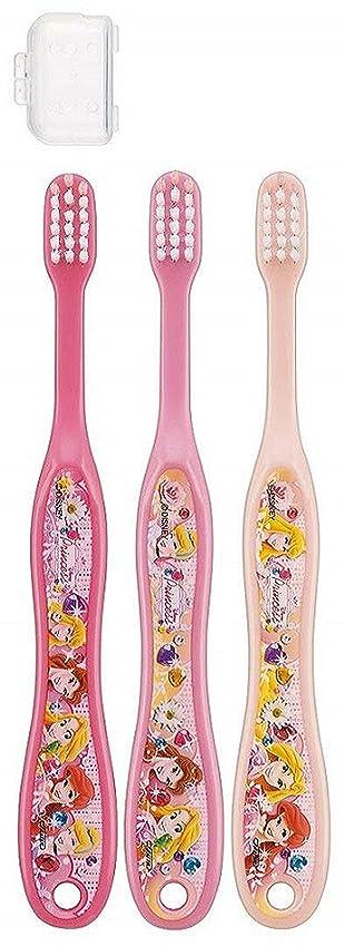 おもてなし無人農場子供歯ブラシ 園児用 キャップ付き 3本セットディズニープリンセス アナと雪の女王 キティ サンリオ fo-shb01(ディズニープリンセス)