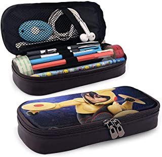 TYHYT estuche Big Hero Go Go Tomago Leather Zipper Pencil Cases, Boys' and Girls' Pencil Case for School Office Pencil Case Stationery Multifunctional Storage Bag