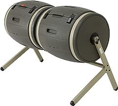Lifetime 60309 Outdoor Double Bin Rotating Composter, 100-Gallon, Brown