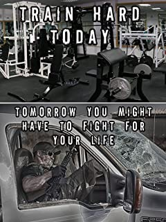Police Poster Police Workout Police Fitness Police Gifts Police Motivation 18X24 (STAYFITGYMV6)