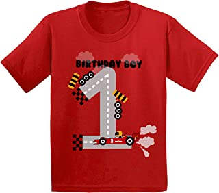 Birthday Boy Infant Shirt Race Car Birthday Party for 1 Year Old