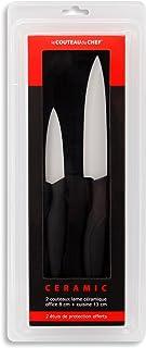 Le Couteau du Chef, Tarrerias Bonjean 441800 Set de 2 Couteaux Lames Céramiques Manche Ergonomique Soft Touch