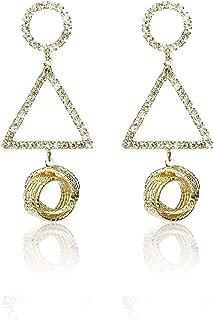 wool ball earrings