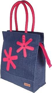 Foonty Exclusive Star Daily Use Jute Lunch Bag(Navy,FFFWB6013B)