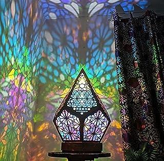 The New Polar Star Grand lampadaire de style bohémien en plastique avec projection LED 3D en forme d'étoile polaire - Déco...