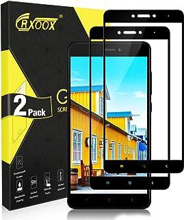 CRXOOX Cristal Templado para Xiaomi Redmi Note 4/Note 4X, Vidrio Templado 9H Dureza, Anti-Huella Digital, Protector de Pantalla para Redmi Note4/4X[2 Unidades]