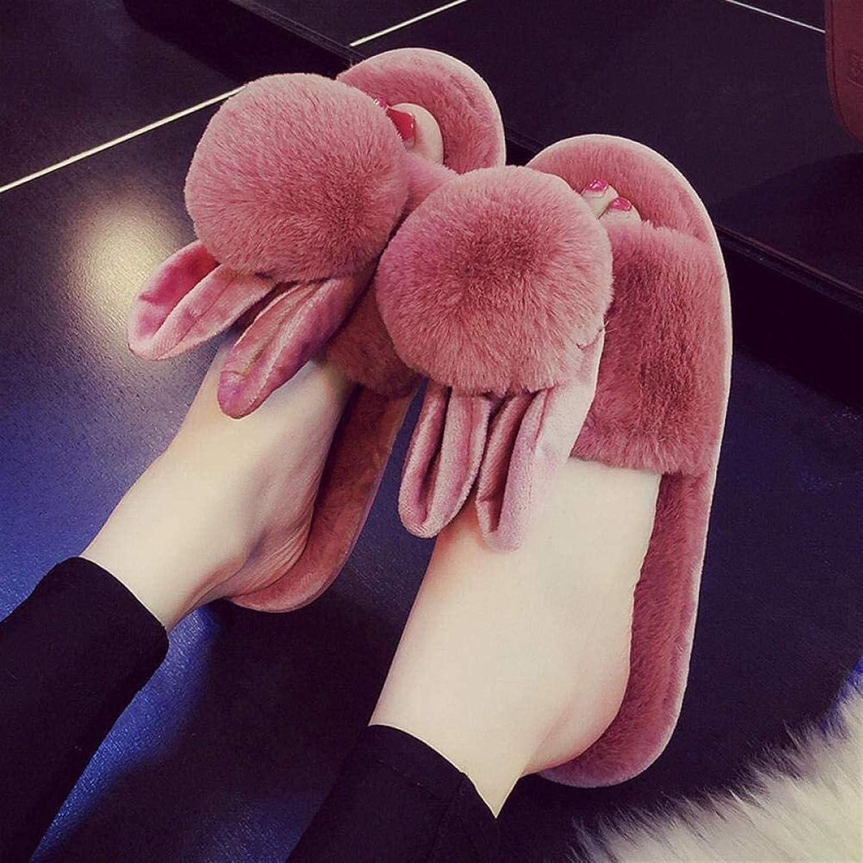 whdz Flip Finally resale start Flop Slippers for Women Open Proof Rabbit Max 83% OFF Wear Pompom