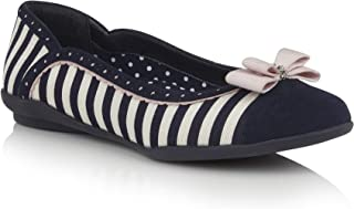 Ruby Shoo 09294 Lizzie Navy Stripe