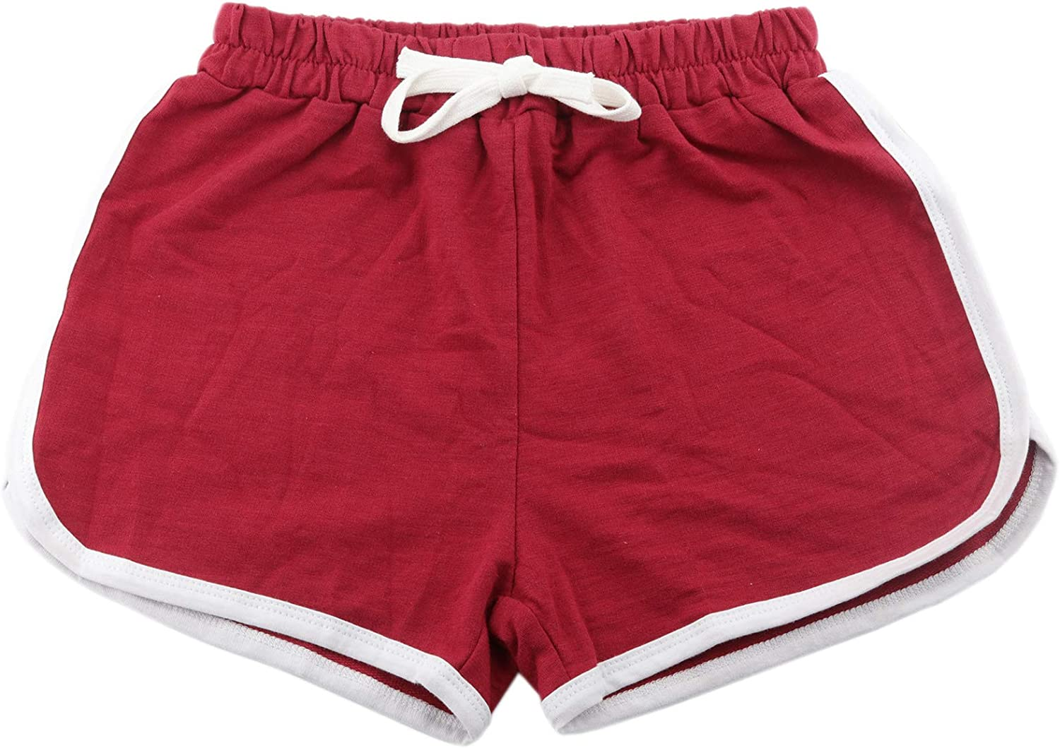 Soarsue Running Athletic Cotton Shorts Pure Cotton Short Pants for Toddler Kids Summer Beach Sports