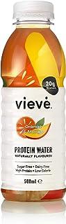Vieve Agua con Proteína 6x500ml - Naranja y Mango. 20g de Proteína, Sin Azúcar, Sin Grasa y Sin Leche. Alternativa Lista p...