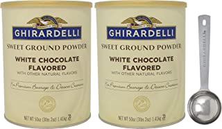Ghirardelli Sweet Ground White Chocolate Gourmet Flavored Powder 3.12 Pound (Pack of 2) with Limited Edition Measuring Spoon