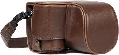 MegaGear Sony Alpha A6500 (16-50 mm) Ever Ready Leather Camera Case and Strap, with Battery Access - Dark Brown - MG1231