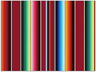 Allenjoy 8x6ft Soft Fabric Mexican Fiesta Theme Colorful Stripes Decor Backdrop Cinco De Mayo Luau Party Decorations Banner Birthday Festival Pictures Photography Background Photo Booth Props