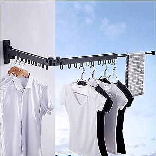 TTOOY Séchoirs à Linge Séchoir à vêtements Mural à encombrement réduit Porte-vêtements escamotable escamotable 20 Boucles ...