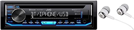 $79 » JVC KD-TD70BT Single DIN Bluetooth in-Dash CD AM/FM USB Auxiliary Digital Media Car Stereo Receiver w/LCD Text Display Pandora/Spotify/iHeartRadio/iPhone Control/Free ALPHASONIK Earbuds
