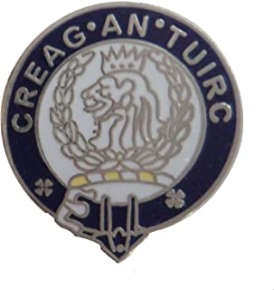 1000 Flags Limited Maclaren Creag an Tuirc Scottish Clan Name Crest Enamel and Metal Pin Badge