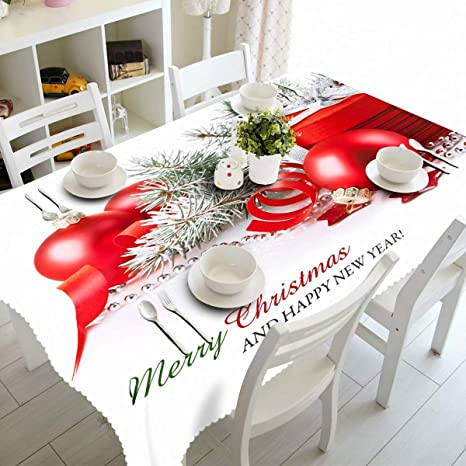 Amazon Com Fannee Round Tablecloth 75 Inch Table Cloth For Tables In Washable Polyester Great Buffet Parties Dinner Wedding More Christmas Ball Gift Home Kitchen