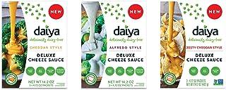Daiya Cheeze Sauce Variety Pack :: Cheddar, Alfredo & Zesty Cheddar :: Vegan, Dairy Free, Gluten Free, Soy Free, Rich Chee...