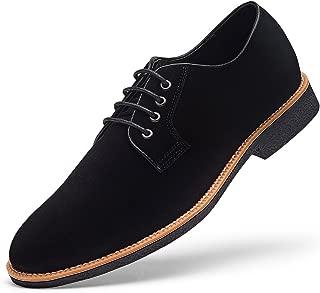 Men's Suede Dress Shoes Casual Lace up Oxford Shoes