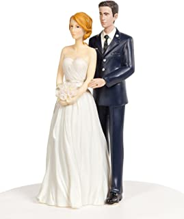 Wedding Collectibles Air Force Military Wedding Cake Topper - Caucasian Bride and Groom