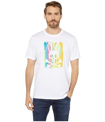 Psycho Bunny Printed T-Shirt (White) Men